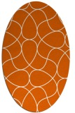 rug #953601 | oval red-orange stripes rug