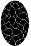 rug #953605 | oval white stripes rug