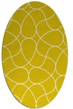 rug #953609 | oval white retro rug