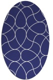 rug #953613 | oval white graphic rug