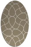 rug #953625 | oval beige stripes rug