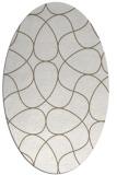 rug #953626 | oval retro rug