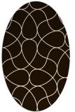 rug #953637 | oval brown rug