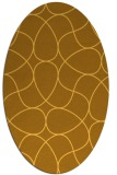 rug #953645 | oval yellow retro rug