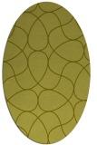 rug #953653 | oval light-green rug