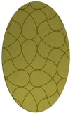 rug #953653 | oval light-green stripes rug