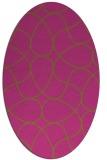 rug #953661 | oval pink rug