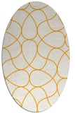 rug #953669 | oval light-orange stripes rug