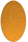 rug #953677 | oval light-orange stripes rug