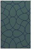 rug #953725 |  blue stripes rug