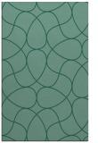 rug #953741 |  blue-green stripes rug