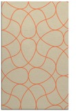 rug #953893 |  orange abstract rug