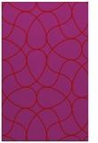 rug #953945 |  pink retro rug