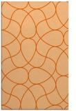 rug #953953 |  red-orange retro rug