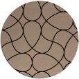 rug #954057 | round beige stripes rug