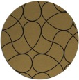 rug #954073 | round mid-brown stripes rug