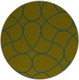 rug #954125 | round green stripes rug
