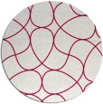 rug #954165 | round red graphic rug