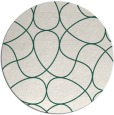 rug #954181 | round green abstract rug