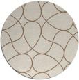 rug #954197 | round mid-brown stripes rug