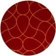rug #954245 | round orange stripes rug