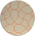 rug #954253 | round orange retro rug