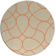 rug #954253 | round orange rug