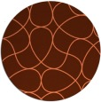 rug #954257 | round red-orange abstract rug