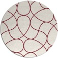 rug #954265 | round pink retro rug