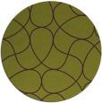 rug #954281 | round green stripes rug