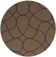 rug #954285 | round purple rug