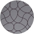 rug #954289 | round purple stripes rug