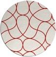 rug #954293 | round red stripes rug