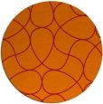rug #954297 | round orange stripes rug