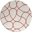 rug #954301 | round red graphic rug
