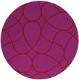 rug #954305 | round red retro rug