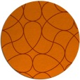 rug #954309 | round red-orange graphic rug