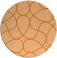 rug #954313   round red-orange stripes rug