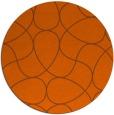 rug #954317 | round red-orange retro rug