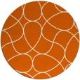 rug #954321 | round red-orange retro rug