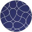 rug #954333 | round blue retro rug