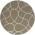 rug #954345 | round beige abstract rug