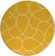 rug #954349 | round yellow retro rug