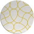 rug #954361 | round yellow retro rug