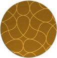 rug #954365 | round yellow popular rug
