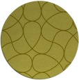 rug #954373 | round light-green graphic rug