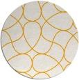 rug #954389 | round light-orange stripes rug