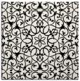 rug #956569 | square black damask rug