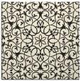 rug #956589 | square black damask rug