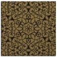 rug #956593 | square black damask rug